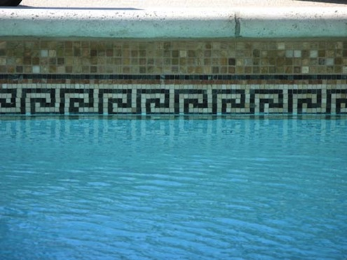Greek Key Pool Border