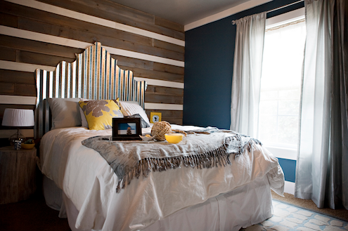 DIY Headboards - Corrugated Metal