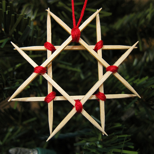 DIY Toothpick Ornaments