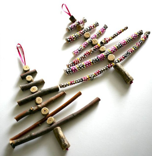 DIY Twig Ornaments