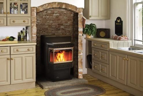 Pellet stoves eco friendly heating bob vila for Eco friendly fireplace