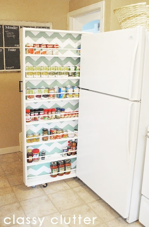 Diy kitchen storage 7 clever quothacksquot to try bob vila for Pantry can storage diy