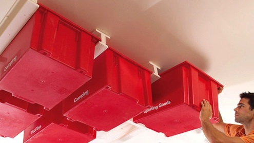 Ceiling-Mounted Garage Storage