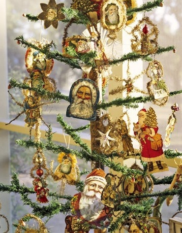 Feather Christmas Trees - Vintage German