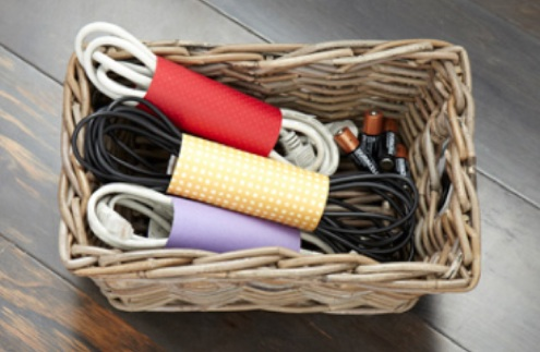 DIY Organization Ideas - Cardboard Roll