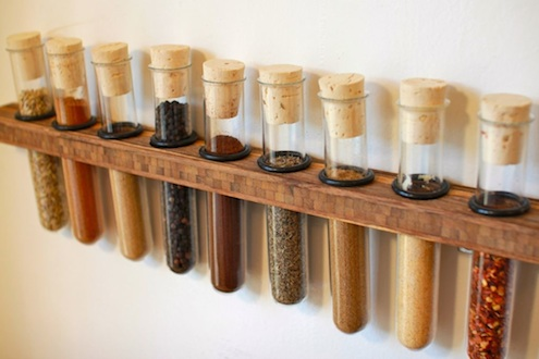 Test Tube DIY Spice Rack