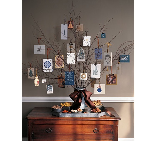 Christmas Card Display - Natural Branches