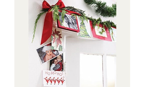 Christmas Card Display - Doorway Border