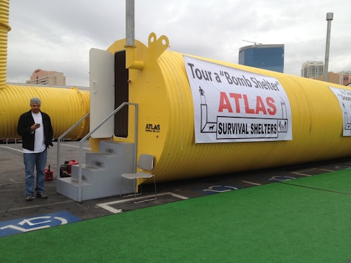 Atlas Bomb Shelter on display at Builders Show in Vegas