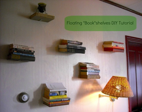 DIY Shelves - Floating Books