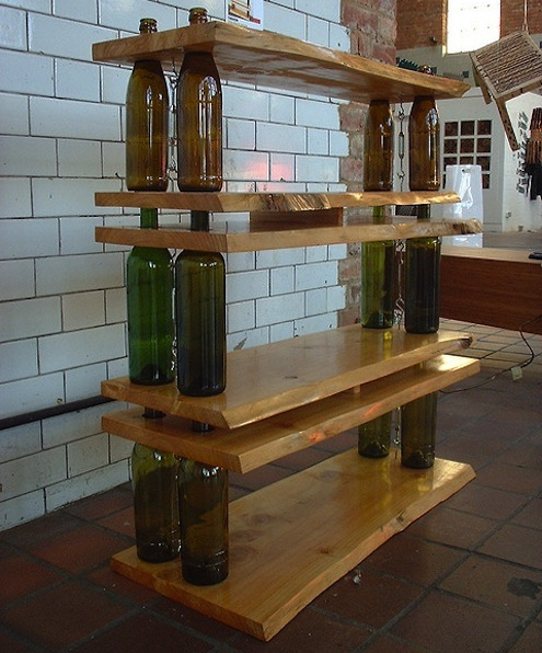 DIY Shelves Wine Bottles 495 x 596