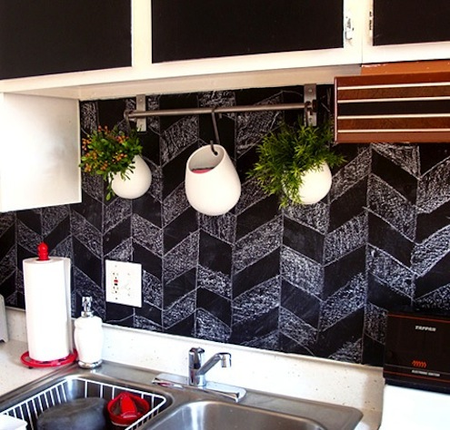 Chalkboard Paint DIY - Backsplash