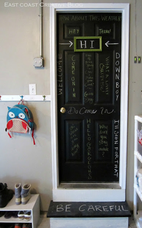 Chalkboard Paint DIY - Door