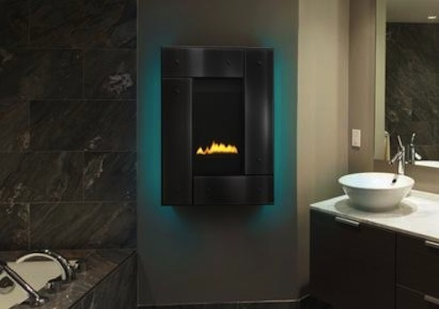 Heat & Glo's Revo Series wall-mounted fireplace
