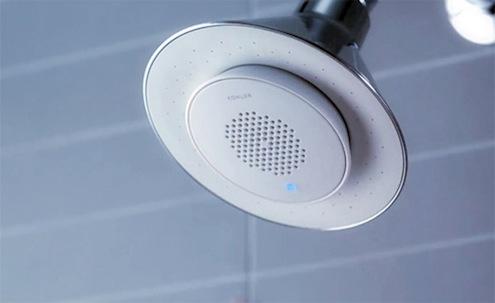 Douche miroir toilettes connect s la salle de bain du - Musique salle de bain ...