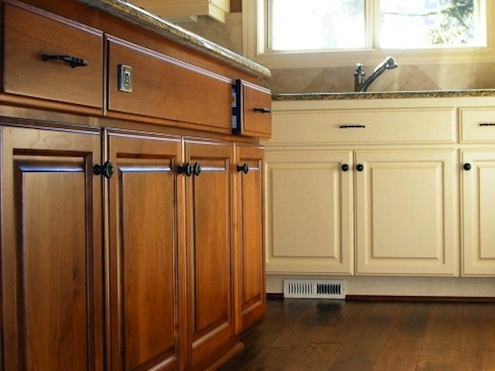 Painted And Stained Kitchencabinets Goeltom