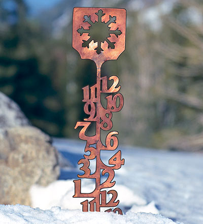 Snow Measurement - Metal Gauge