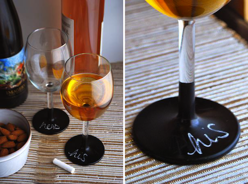 Chalkboard Paint - DIY Wine Glasses