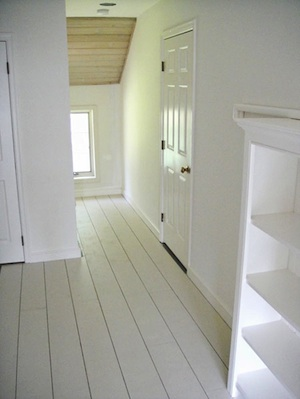 How to Paint a Wood Floor - White