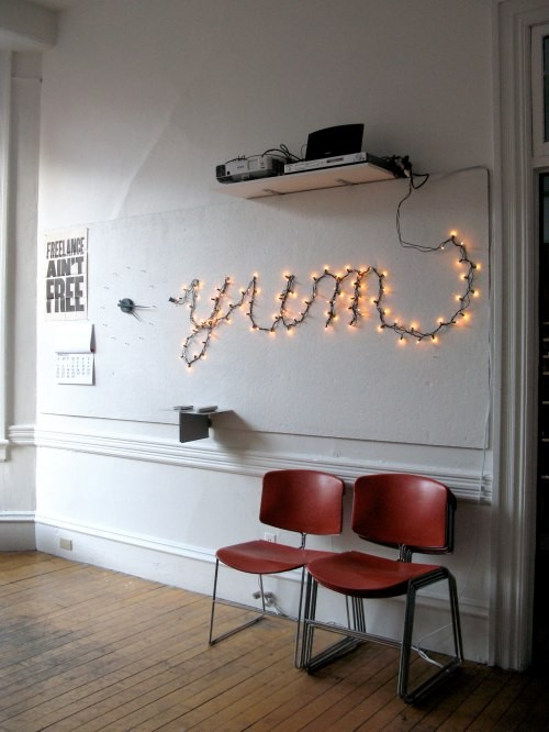String Lights DIY - Light Up Letters