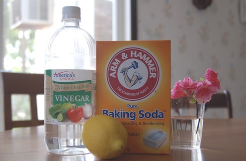 Cleaning Grout - Vinegar and Baking Soda