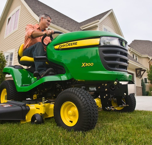 John Deere X300 Tractor Mower
