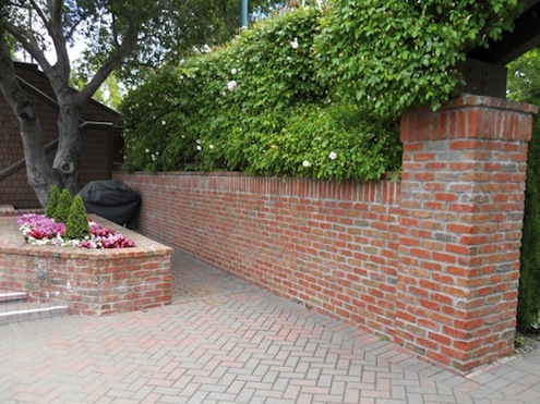 Veneer Brick Walls - Backyard