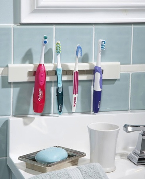 DIY Bathroom Storage - Toothbrush Holder