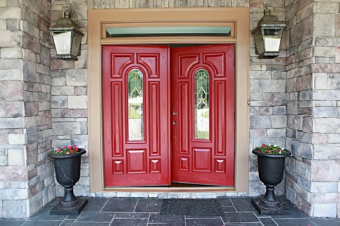Red Decor - Front Door