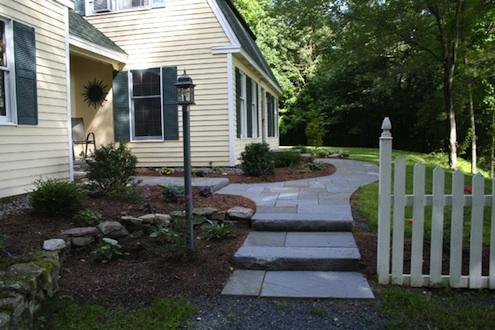Bluestone Walkway - Slab Steps