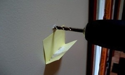 Contain Sawdust and Drill Debris - Sticky Note Dust
