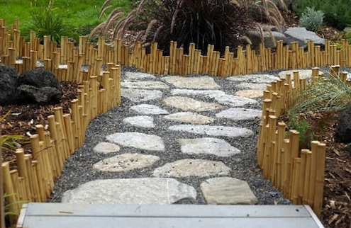 Landscaping with Bamboo - Edging