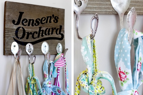 Silverware DIY - Wall Hooks