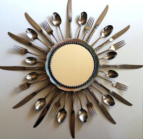 Silverware DIY - Sunburst Mirror