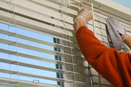 How to Clean Blinds - Microfiber Cloth