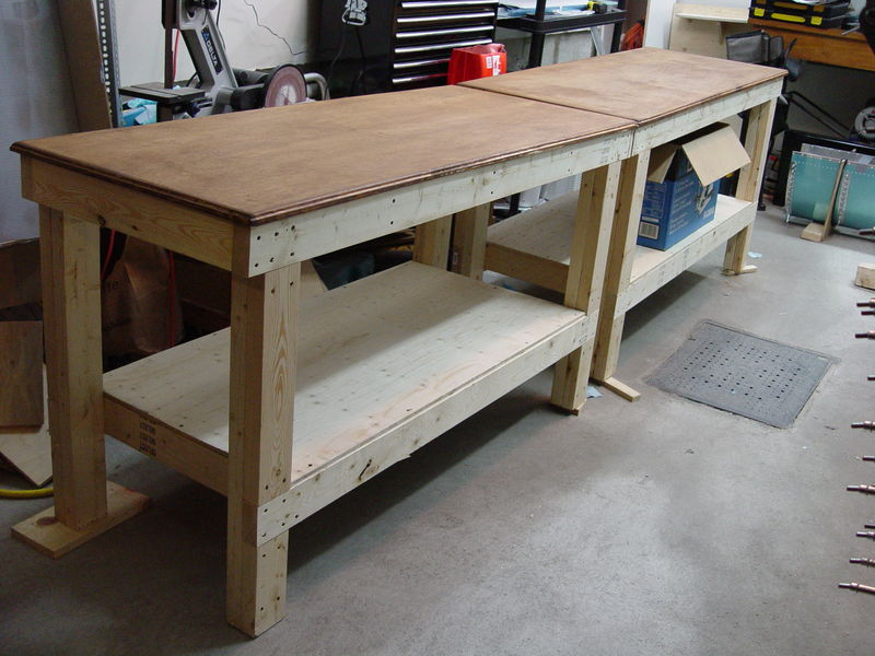 Woodwork diy wood workbench pdf plans for Wooden garage plans
