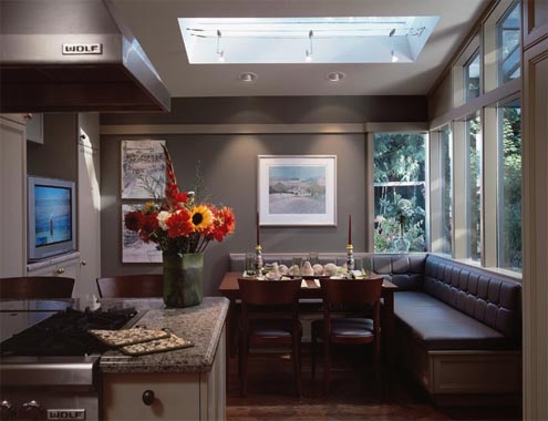 Kitchen island with booth seating best home decoration world class - Banquettes in kitchens ...