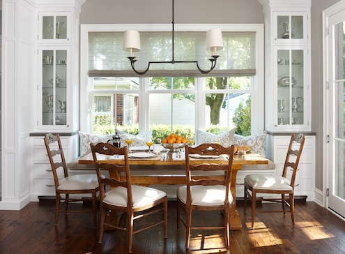 Is a kitchen banquette right for you bob vila for Dining area interior