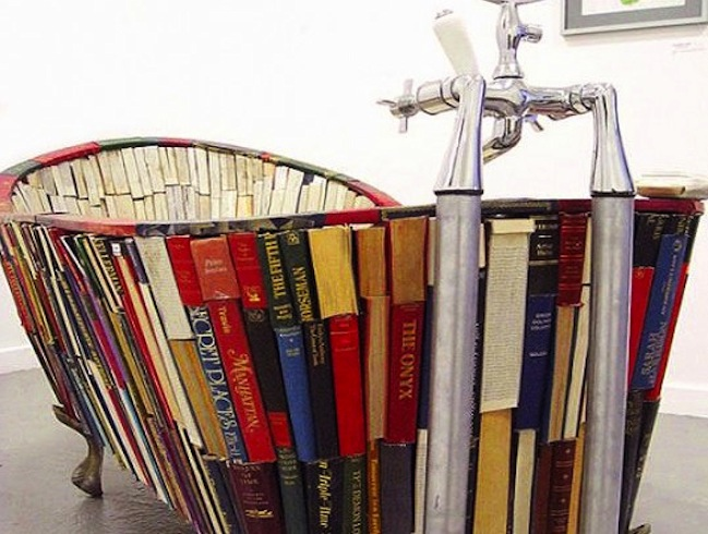 Repurpose Bücher - DIY Tub