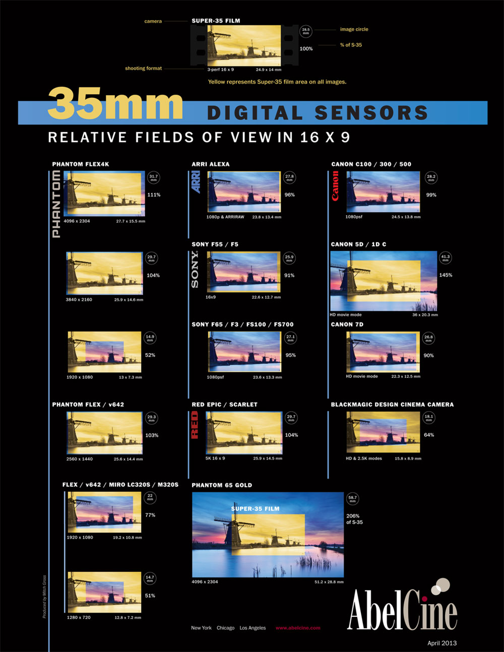 35mm Digital Sensor Chart