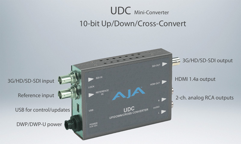 AJA Up Down Cross Converter