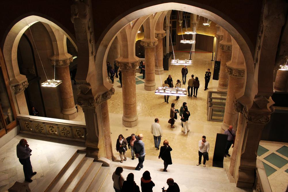 BARCELONA-Interior of the Hospital de la Santa Creu i Sant Pau_372728245