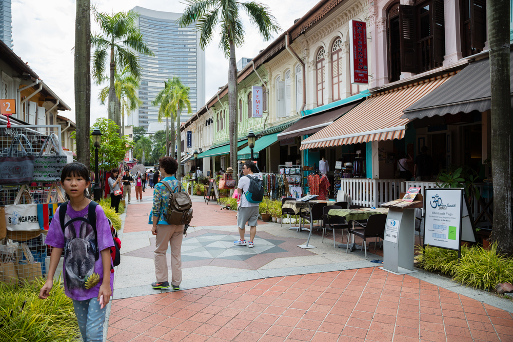 Tourists in the streets of the Arab quarter (Kampong Glam)_299277053