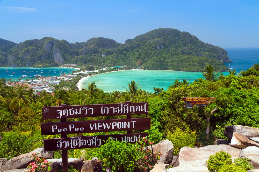 View Point bay Koh Phi Phi Don in andaman sea_360243242