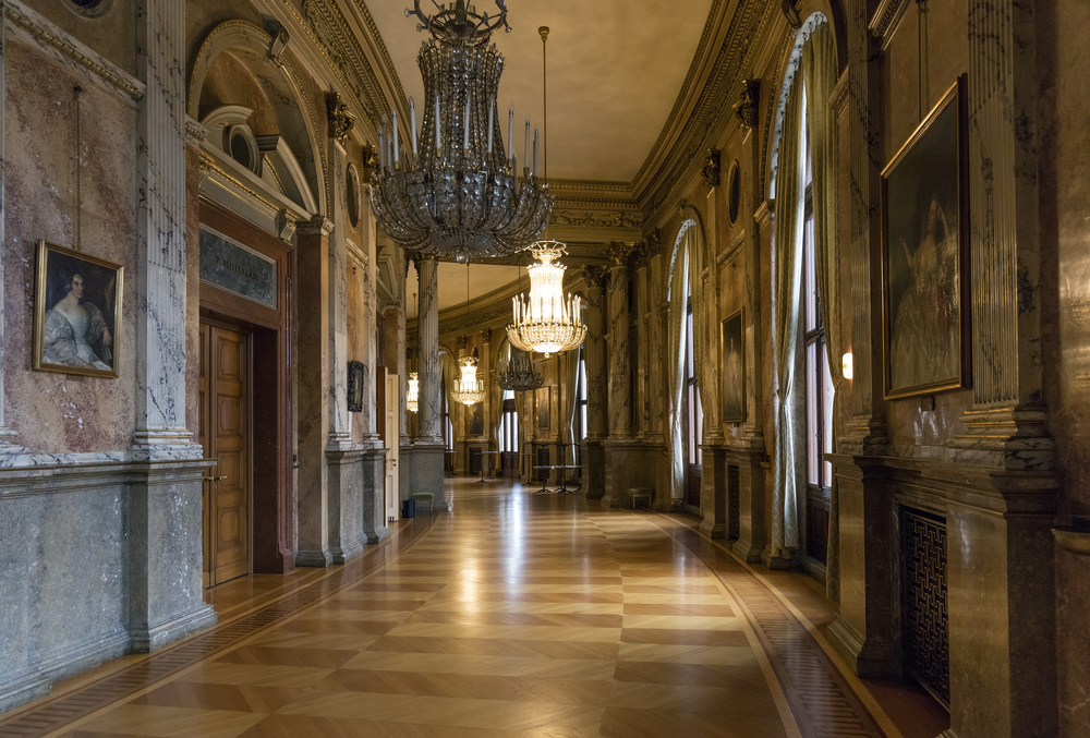 Interior of Historic Burgtheater (Court Theatre) at the famous Wiener Ringstrasse_378305602