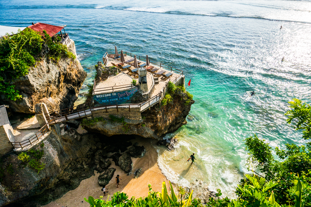 Delpi Rock Lounge overlooking the ocean taken at Suluban Beach_322643018