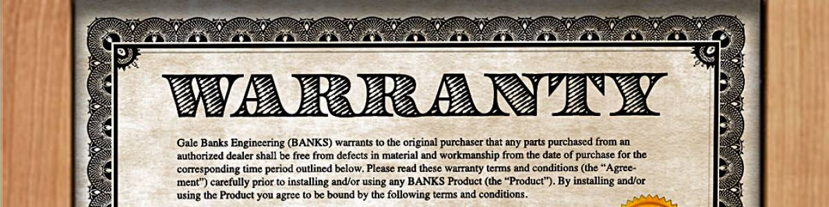 Banks Product Limited Warranties
