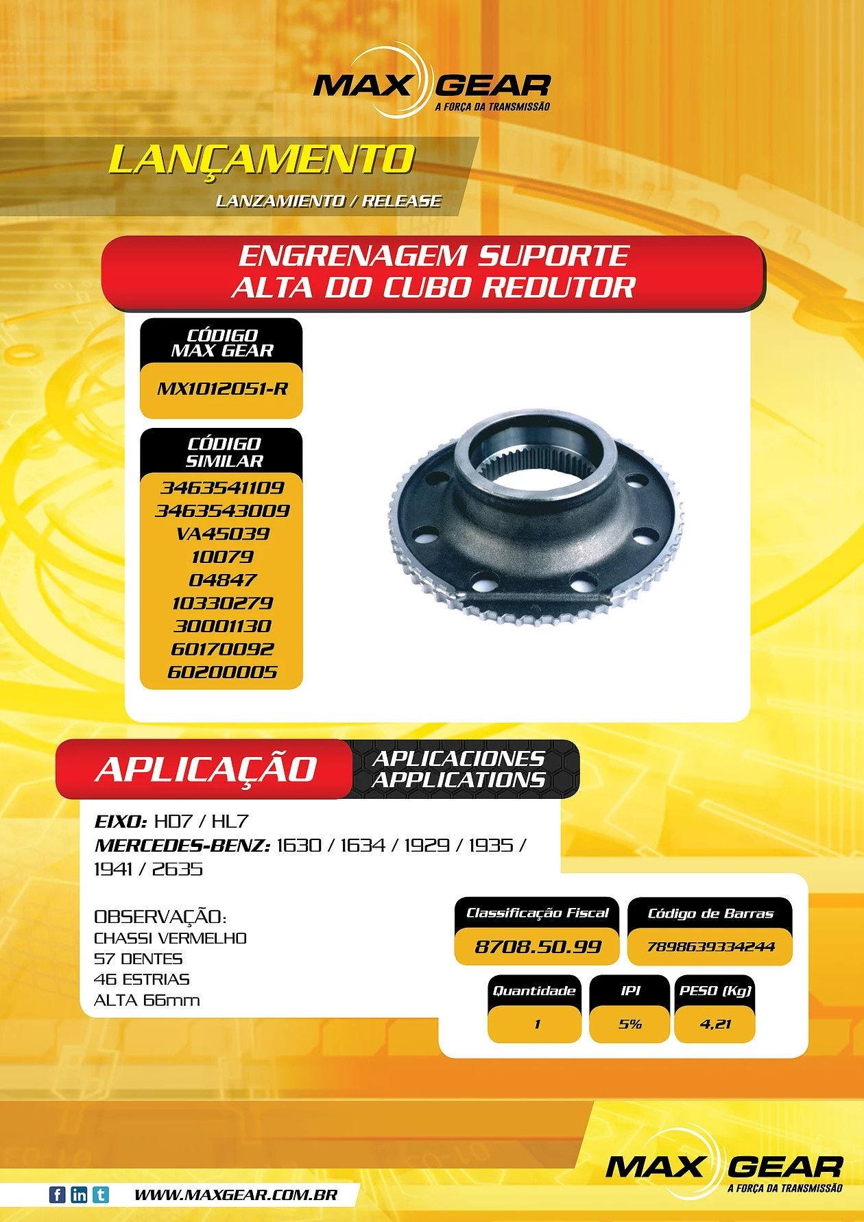 High Gear Gearbox Hub Gear