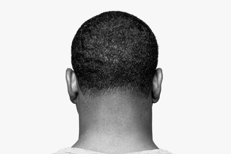 Man's textured hair.