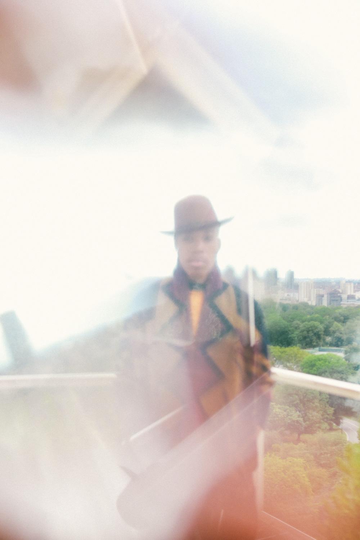 Vernon Francois in a loft above Central Park